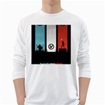 Twenty One 21 Pilots White Long Sleeve T-Shirts Front