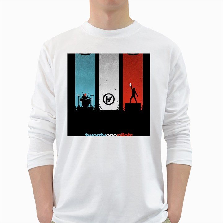 Twenty One 21 Pilots White Long Sleeve T-Shirts