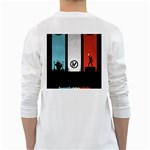 Twenty One 21 Pilots White Long Sleeve T-Shirts Back