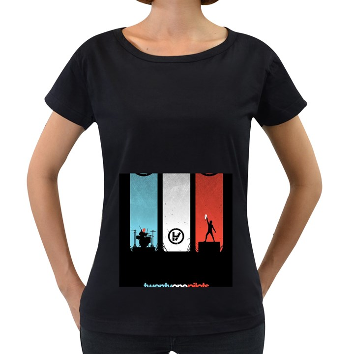 Twenty One 21 Pilots Women s Loose-Fit T-Shirt (Black)