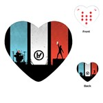 Twenty One 21 Pilots Playing Cards (Heart)  Front