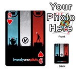 Twenty One 21 Pilots Playing Cards 54 Designs  Front - Heart9