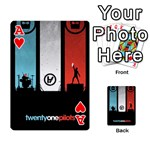 Twenty One 21 Pilots Playing Cards 54 Designs  Front - HeartA