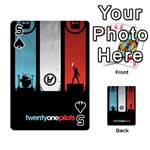 Twenty One 21 Pilots Playing Cards 54 Designs  Front - Spade5