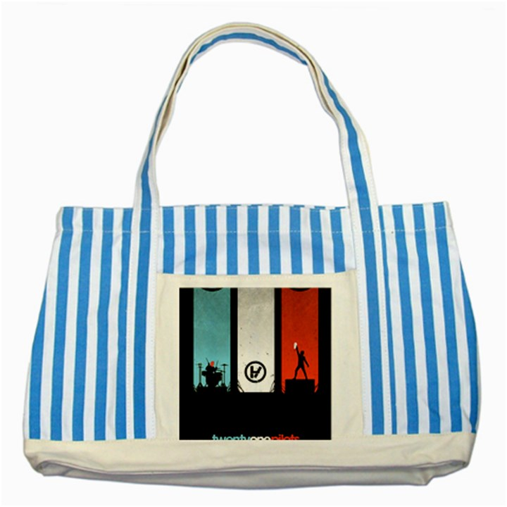 Twenty One 21 Pilots Striped Blue Tote Bag