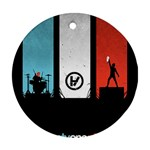 Twenty One 21 Pilots Round Ornament (Two Sides)  Back