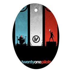 Twenty One 21 Pilots Oval Ornament (two Sides)