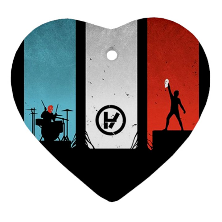 Twenty One 21 Pilots Heart Ornament (2 Sides)
