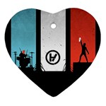Twenty One 21 Pilots Heart Ornament (2 Sides) Back