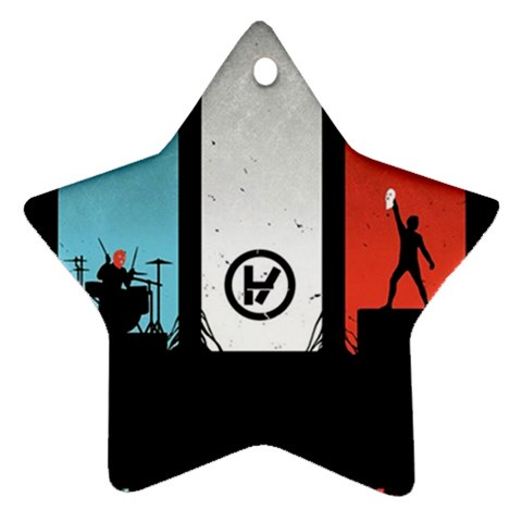 Twenty One 21 Pilots Star Ornament (Two Sides)