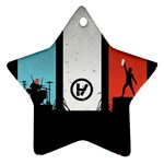 Twenty One 21 Pilots Star Ornament (Two Sides)  Back