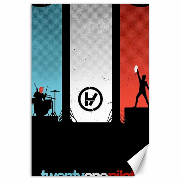 Twenty One 21 Pilots Canvas 12  x 18