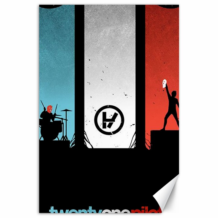 Twenty One 21 Pilots Canvas 24  x 36