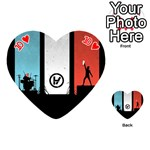 Twenty One 21 Pilots Playing Cards 54 (Heart)  Front - Heart10