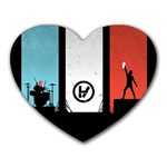 Twenty One 21 Pilots Heart Mousepads Front