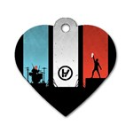 Twenty One 21 Pilots Dog Tag Heart (One Side) Front