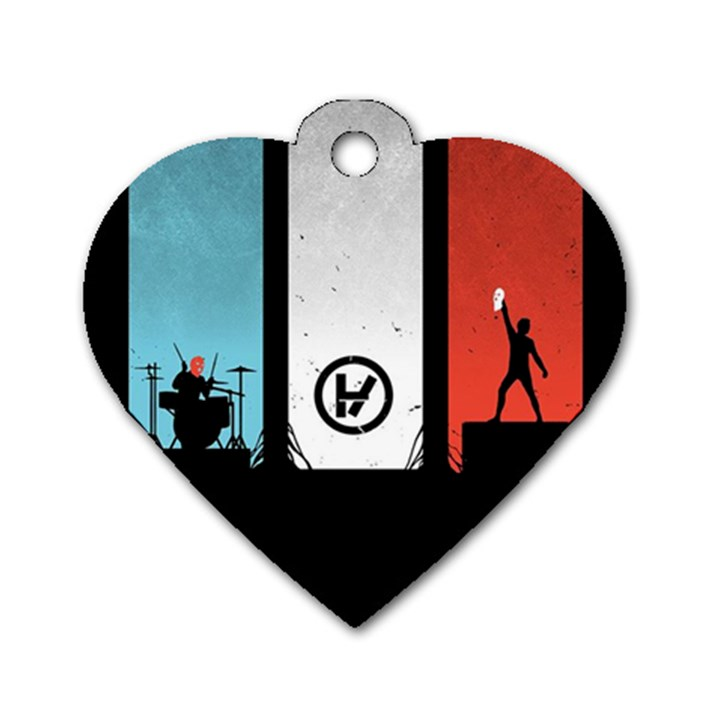 Twenty One 21 Pilots Dog Tag Heart (Two Sides)