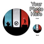 Twenty One 21 Pilots Multi-purpose Cards (Round)  Back 2