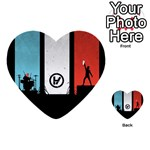 Twenty One 21 Pilots Multi-purpose Cards (Heart)  Back 1
