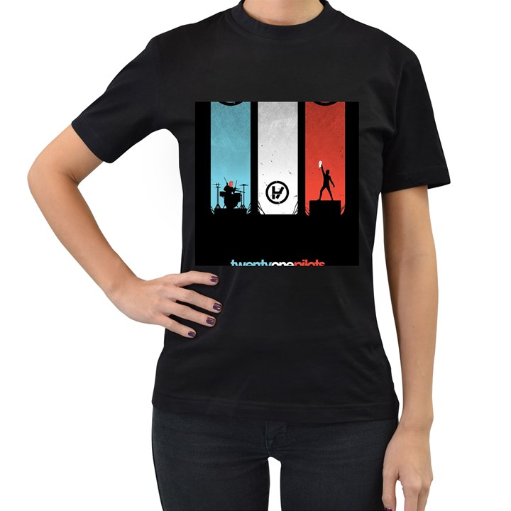 Twenty One 21 Pilots Women s T-Shirt (Black)