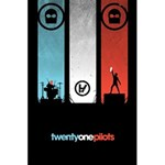 Twenty One 21 Pilots 5.5  x 8.5  Notebooks Back Cover Inside