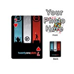 Twenty One 21 Pilots Playing Cards 54 (Mini)  Front - Heart7