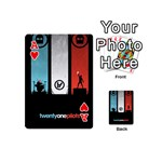 Twenty One 21 Pilots Playing Cards 54 (Mini)  Front - HeartA