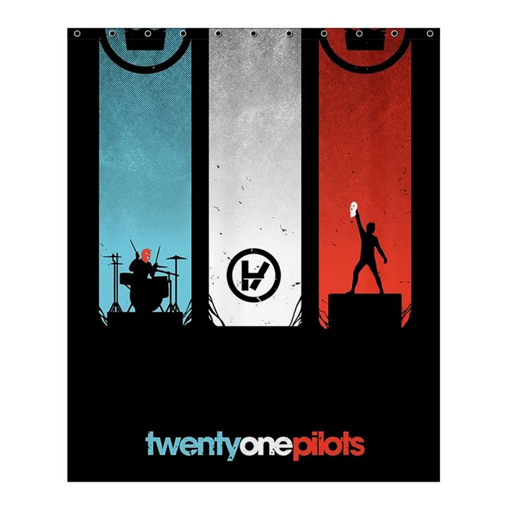 Twenty One 21 Pilots Shower Curtain 60  x 72  (Medium)