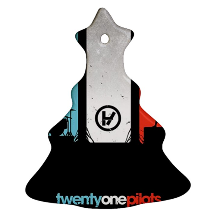 Twenty One 21 Pilots Christmas Tree Ornament (2 Sides)