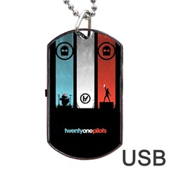 Twenty One 21 Pilots Dog Tag Usb Flash (two Sides)