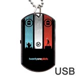 Twenty One 21 Pilots Dog Tag USB Flash (Two Sides)  Back