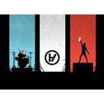 Twenty One 21 Pilots LOVE Bottom 3D Greeting Card (7x5) Back
