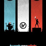 Twenty One 21 Pilots PARTY 3D Greeting Card (8x4) Inside