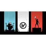 Twenty One 21 Pilots PARTY 3D Greeting Card (8x4) Back