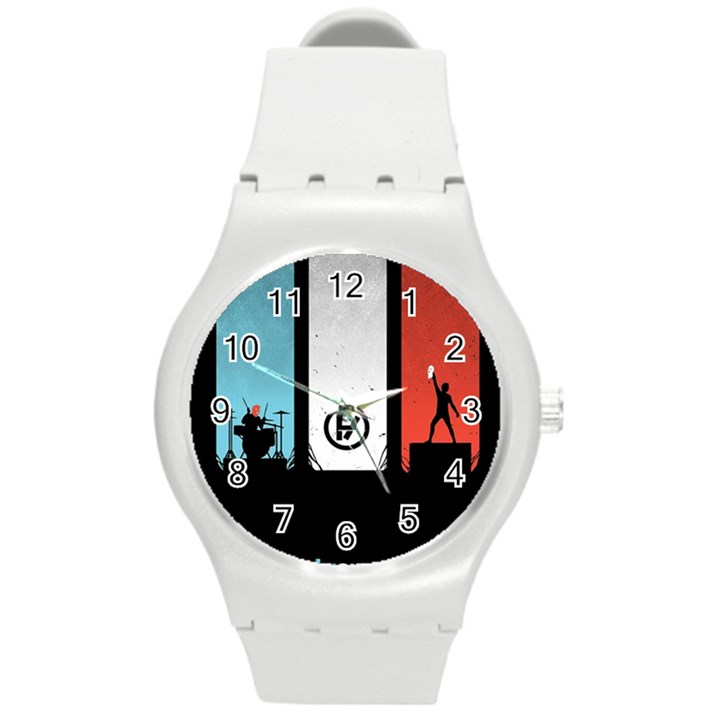 Twenty One 21 Pilots Round Plastic Sport Watch (M)