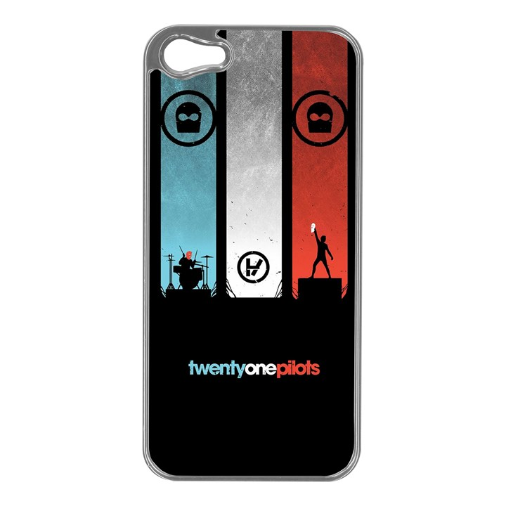 Twenty One 21 Pilots Apple iPhone 5 Case (Silver)