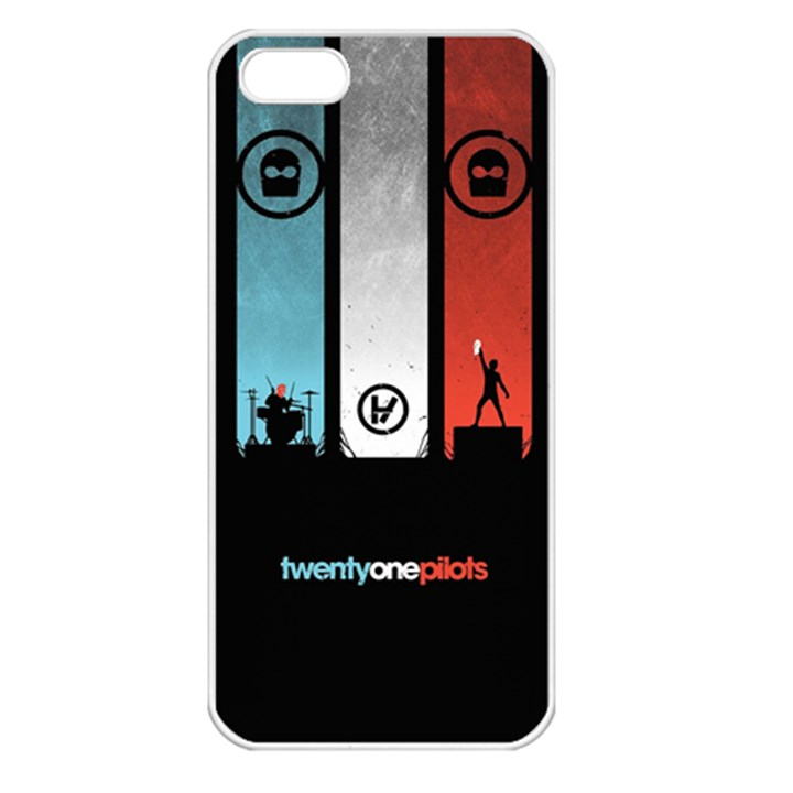 Twenty One 21 Pilots Apple iPhone 5 Seamless Case (White)