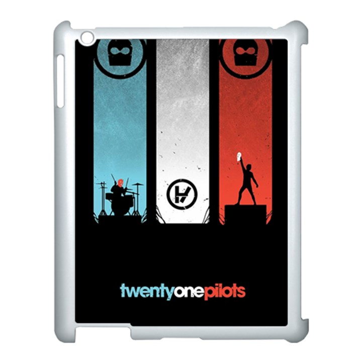 Twenty One 21 Pilots Apple iPad 3/4 Case (White)