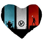 Twenty One 21 Pilots Large 19  Premium Heart Shape Cushions Front
