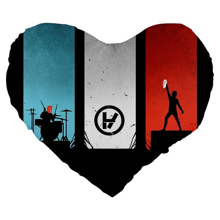 Twenty One 21 Pilots Large 19  Premium Heart Shape Cushions