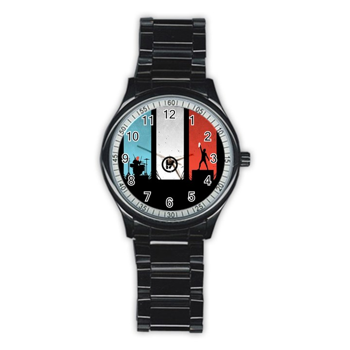 Twenty One 21 Pilots Stainless Steel Round Watch
