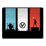 Twenty One 21 Pilots Double Sided Fleece Blanket (Small)  50 x40 Blanket Back