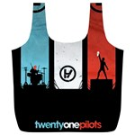 Twenty One 21 Pilots Full Print Recycle Bags (L)  Back