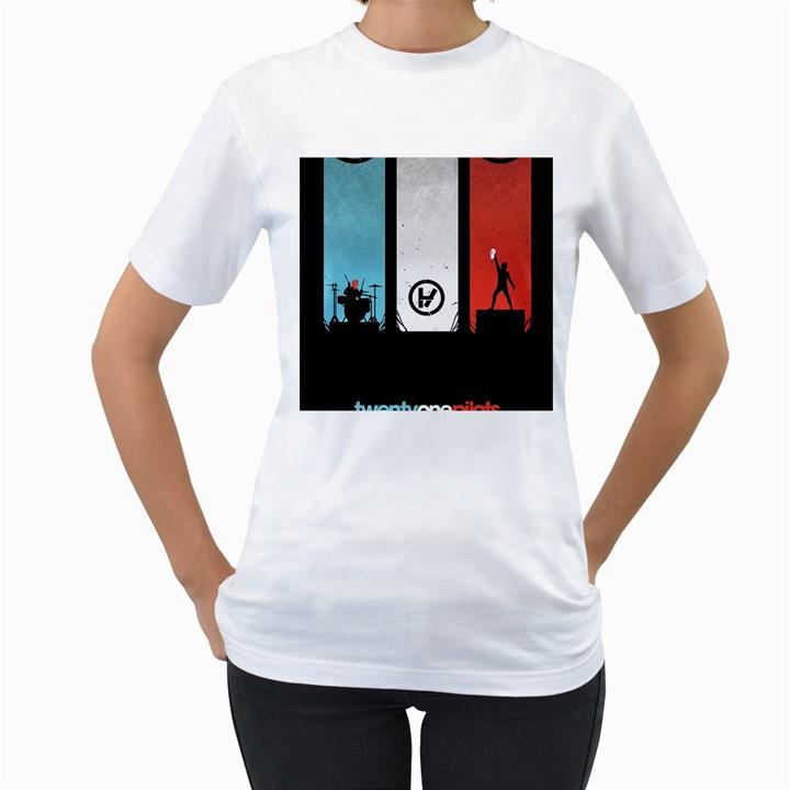Twenty One 21 Pilots Women s T-Shirt (White)
