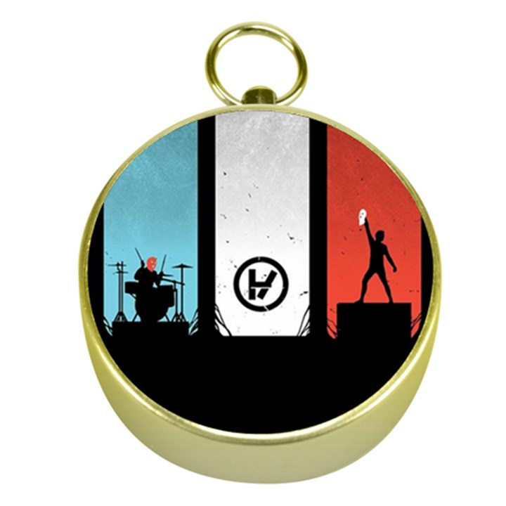 Twenty One 21 Pilots Gold Compasses