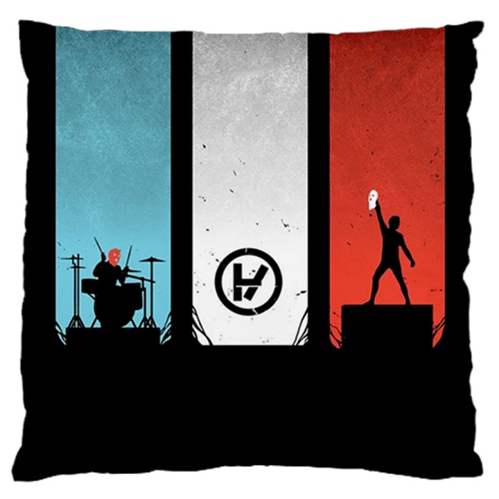 Twenty One 21 Pilots Large Flano Cushion Case (Two Sides)