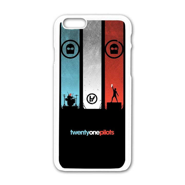 Twenty One 21 Pilots Apple iPhone 6/6S White Enamel Case