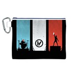 Twenty One 21 Pilots Canvas Cosmetic Bag (L) Front