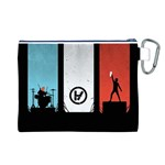 Twenty One 21 Pilots Canvas Cosmetic Bag (L) Back