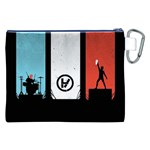 Twenty One 21 Pilots Canvas Cosmetic Bag (XXL) Back